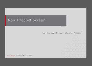 Programme / Product Screen